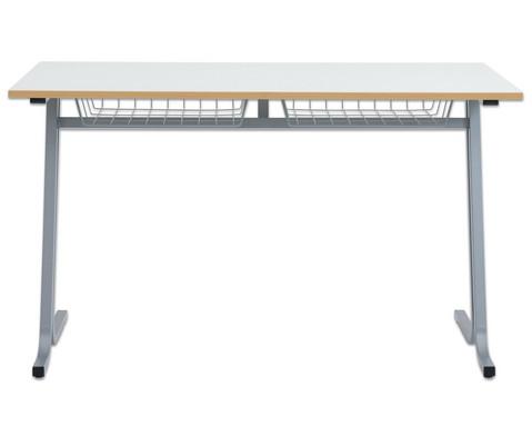 Schueler-Zweiertisch swing Tischplatte  130 x 65 cm-2