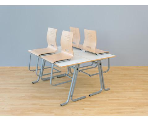Schueler-Zweiertisch swing Tischplatte  130 x 65 cm-4