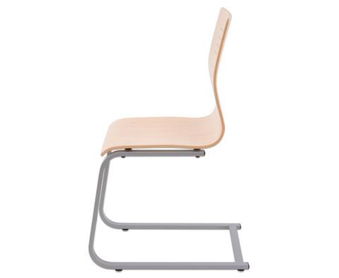 Schuelerstuhl mit Buchenholz-Schale ohne Sitzpolster-3