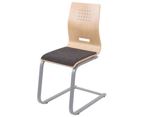 Schuelerstuhl mit Buchenholz-Schale Nur mit Sitzpolster