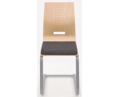 Schuelerstuhl mit Buchenholz-Schale Nur mit Sitzpolster-2