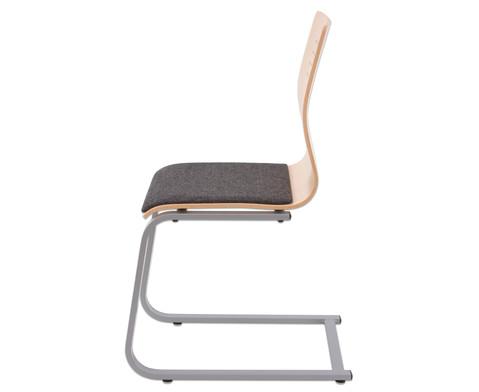 Schuelerstuhl mit Buchenholz-Schale Nur mit Sitzpolster-3