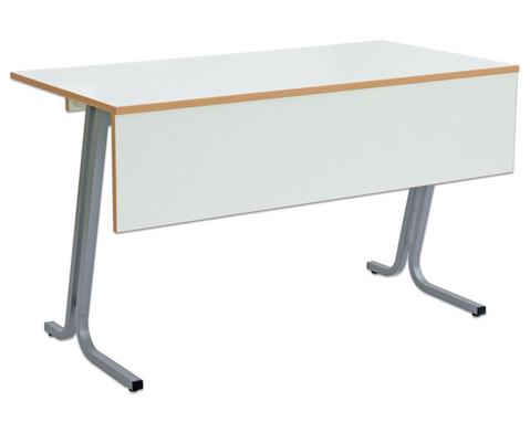 Lehrertisch swing Blende mit abschliessbarer Schublade und PU-Kante-2