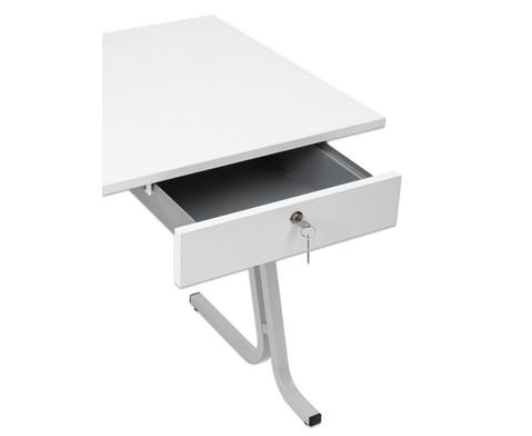 Lehrertisch swing Blende mit abschliessbarer Schublade und PU-Kante-3