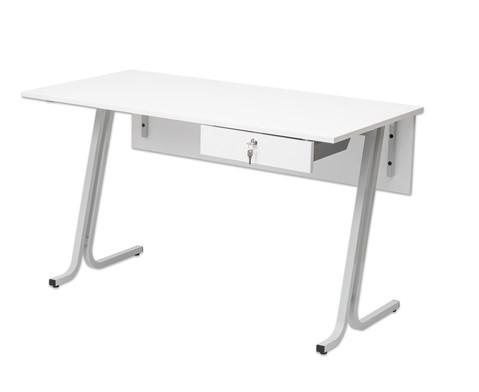 Lehrertisch swing Blende mit abschliessbarer Schublade und PU-Kante-4