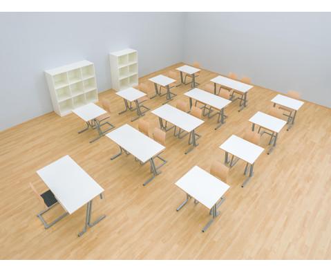 Lehrertisch swing Blende mit abschliessbarer Schublade und PU-Kante-6