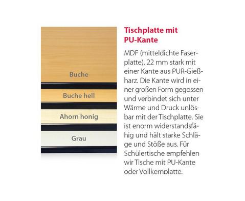 Lehrertisch swing Blende mit abschliessbarer Schublade und PU-Kante-8
