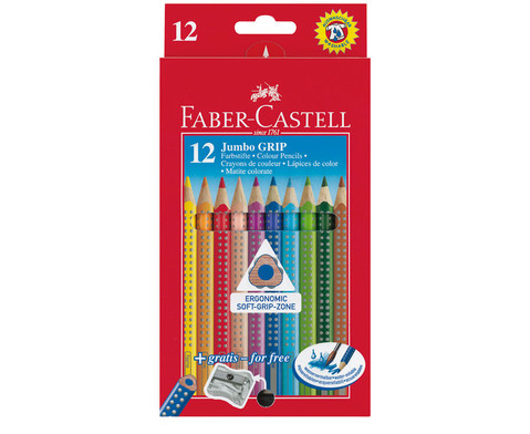 Dicke Faber-Castell Colour Grip Holzstifte 12 Stueck-1