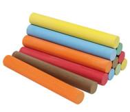 12 Stück Kreide in Faltschachtel, 6 Farben, je 2 Stück, rund