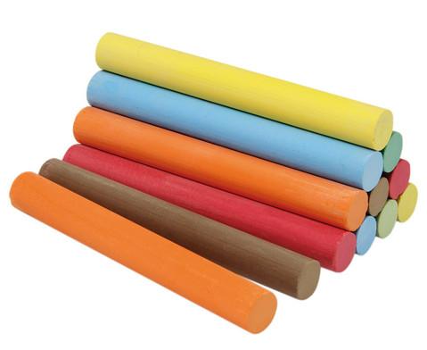 Kreide in Faltschachtel 12 Stueck 6 Farben je 2 Stueck rund-1