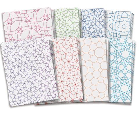 Mosaikpapier verschiedene Muster