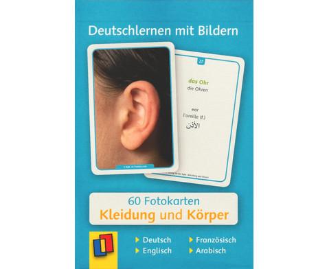 60 Fotokarten Kleidung und Koerper - Deutschlernen mit Bildern