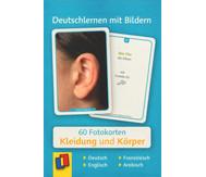 60 Fotokarten Kleidung und Körper - Deutschlernen mit Bildern