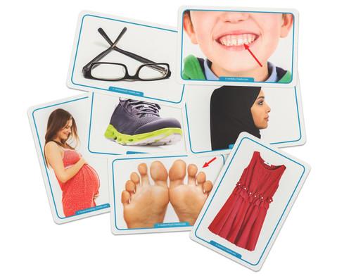 60 Fotokarten Kleidung und Koerper - Deutschlernen mit Bildern-3