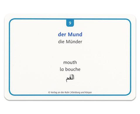 60 Fotokarten Kleidung und Koerper - Deutschlernen mit Bildern-9
