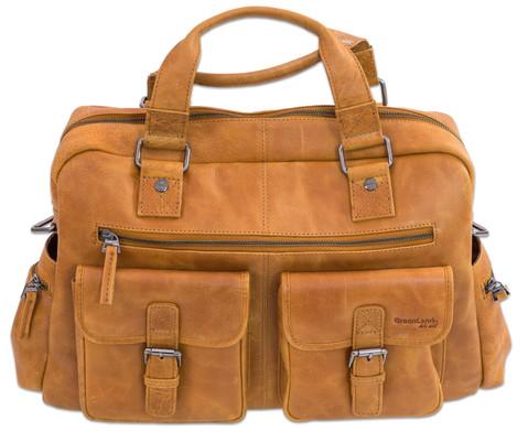 Businesstasche XL aus Bueffelleder mit Schulterriemen-7