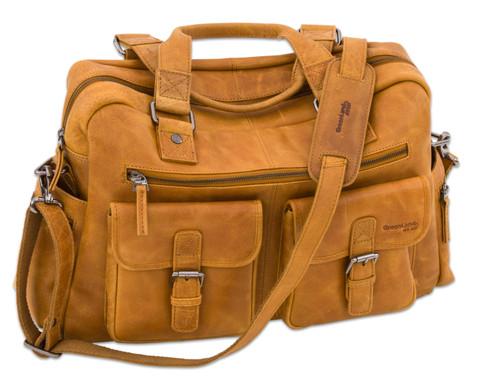 Businesstasche XL aus Bueffelleder mit Schulterriemen-8