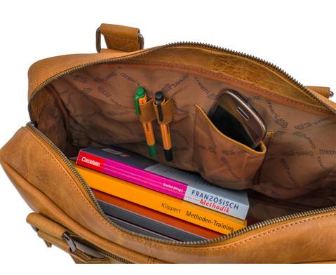 Businesstasche XL aus Bueffelleder mit Schulterriemen-9