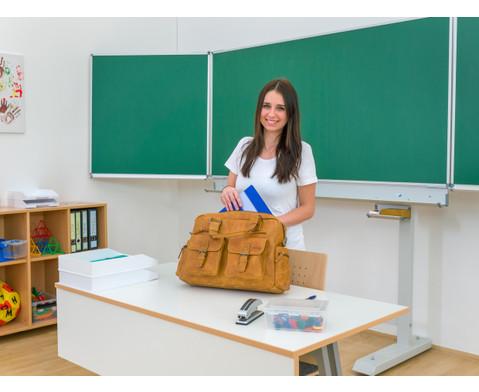Businesstasche XL aus Bueffelleder mit Schulterriemen-10