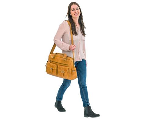 Businesstasche XL aus Bueffelleder mit Schulterriemen-12