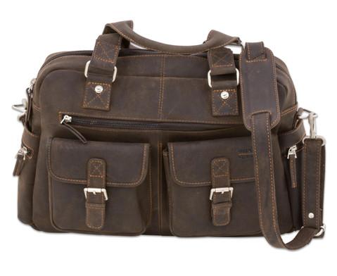 Businesstasche XL aus Bueffelleder mit Schulterriemen-2