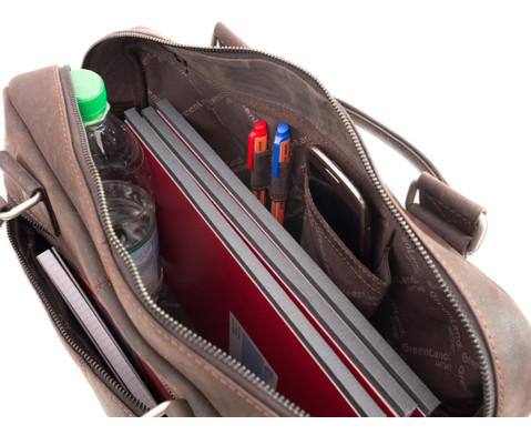 Businesstasche XL aus Bueffelleder mit Schulterriemen-3