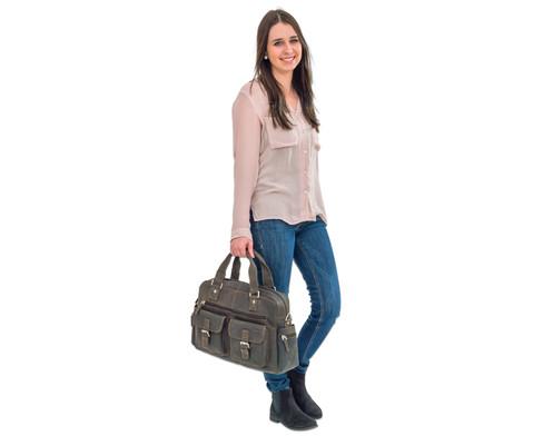 Businesstasche XL aus Bueffelleder mit Schulterriemen-6
