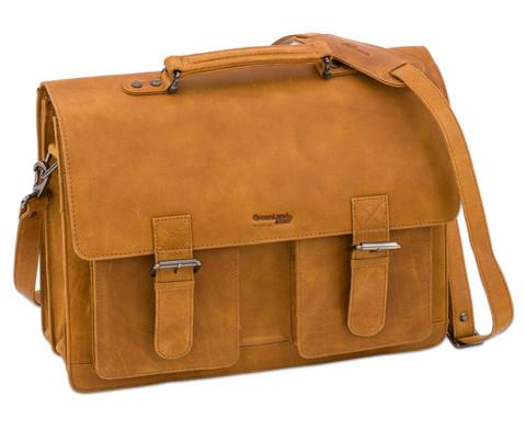 Lehrertasche aus Bueffelleder mit Schulterriemen-2