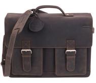 Lehrertasche aus Büffelleder, mit Schulterriemen