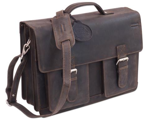 Lehrertasche aus Bueffelleder mit Schulterriemen-10