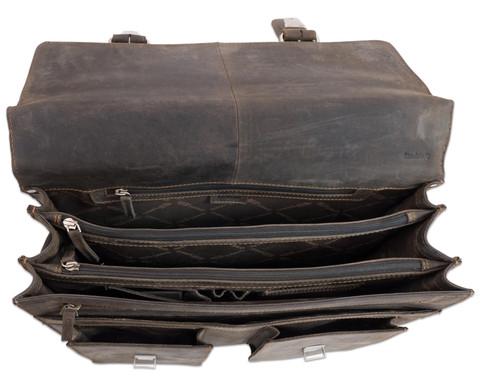 Lehrertasche aus Bueffelleder mit Schulterriemen-13