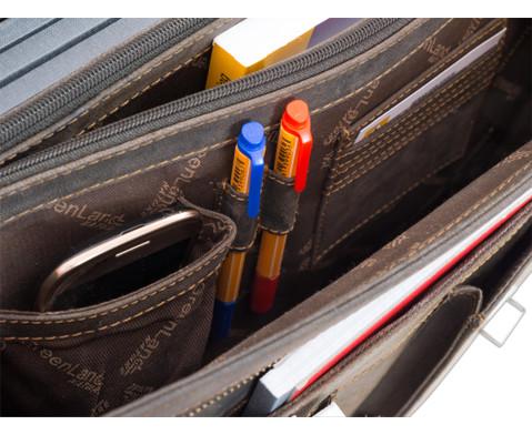 Lehrertasche aus Bueffelleder mit Schulterriemen-15
