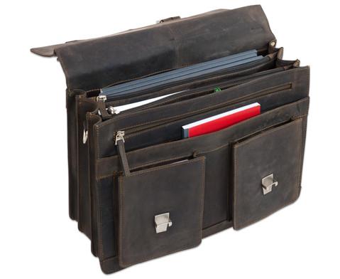 Lehrertasche aus Bueffelleder mit Schulterriemen-16