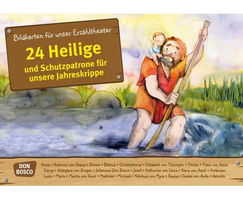 Bildkarten 24 Heilige und Schutzpatrone fuer unsere Jahreskrippe-1
