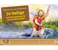 Bildkarten: 24 Heilige und Schutzpatrone für unsere Jahreskrippe