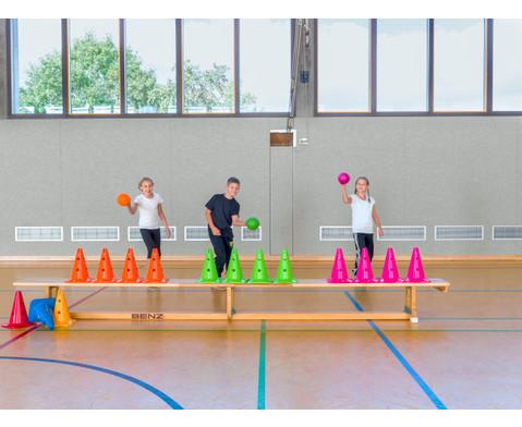 Spielkegel Regenbogen-Set 6 Stueck-12