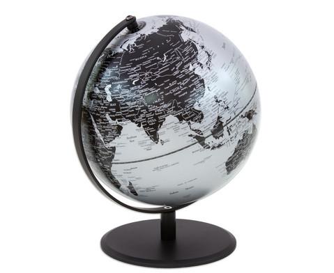 Globus Pluto matt silber Hoehe 30 cm-2