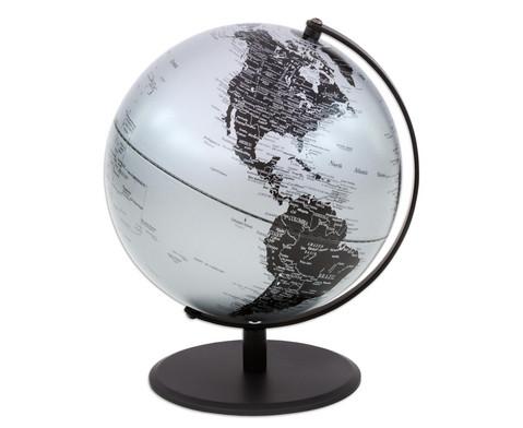 Globus Pluto matt silber Hoehe 30 cm-3