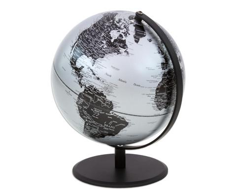 Globus Pluto matt silber Hoehe 30 cm-4