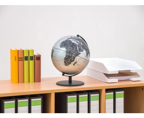 Globus Pluto matt silber Hoehe 30 cm-5