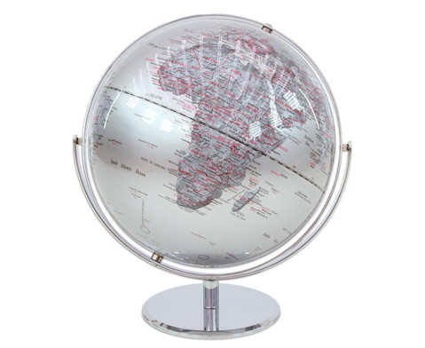 Globus Juri silver Hoehe 36 cm Durchmesser 30 cm-1