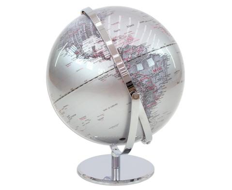 Globus Juri silver Hoehe 36 cm Durchmesser 30 cm-2