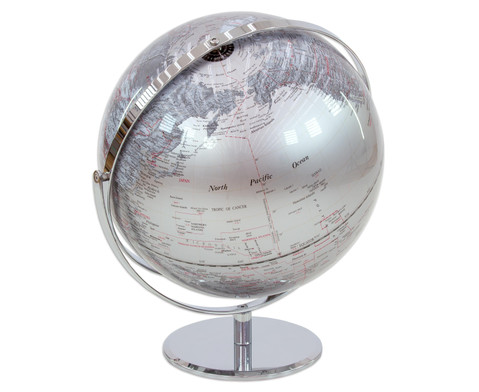 Globus Juri silver Hoehe 36 cm Durchmesser 30 cm-3