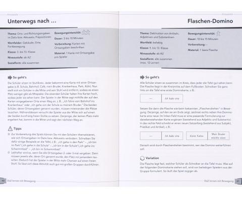 DaZ lernen mit Bewegung - 90 Spiele und UEbungen zur Grammatik-4