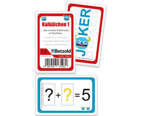 Rechenkarten Kalkuelchen 1-1