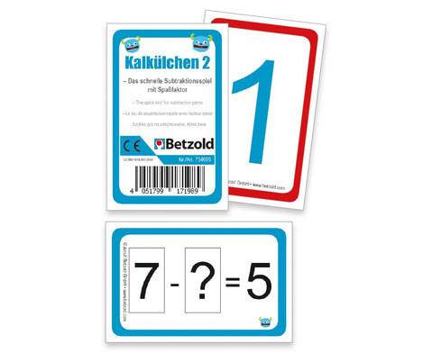 Rechenkarten Kalkuelchen 2-1
