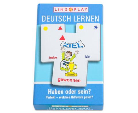 Deutsch lernen - Perfekt - welches Hilfsverb passt-1