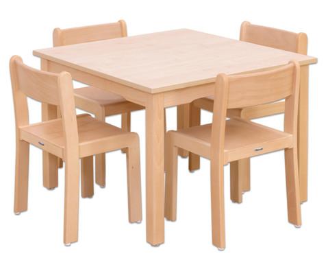 Moebel-Set Quadro Sitzhoehe 30 cm Tischhoehe 52 cm Ahorn