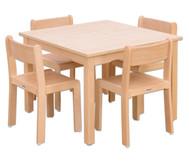 Möbel-Set Quadro Sitzhöhe 38 cm, Tischhöhe 64 cm, Ahorn