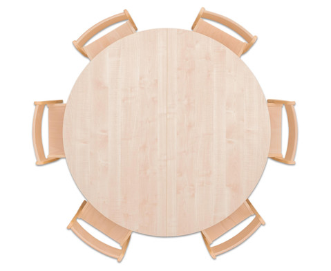 Moebel-Set Rondo Sitzhoehe 34 cm Tischhoehe 58 cm Ahorn-2